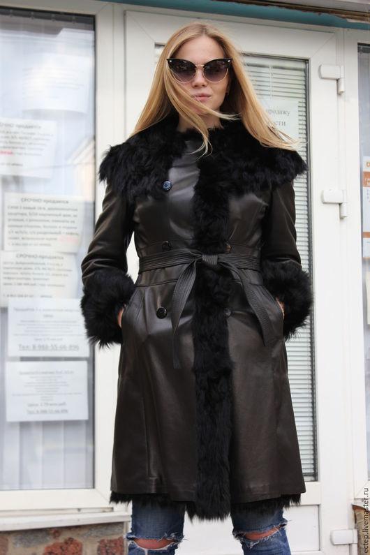 """Верхняя одежда ручной работы. Ярмарка Мастеров - ручная работа. Купить Кожаное пальто """"Тоскана"""". Handmade. Зимнее пальто"""