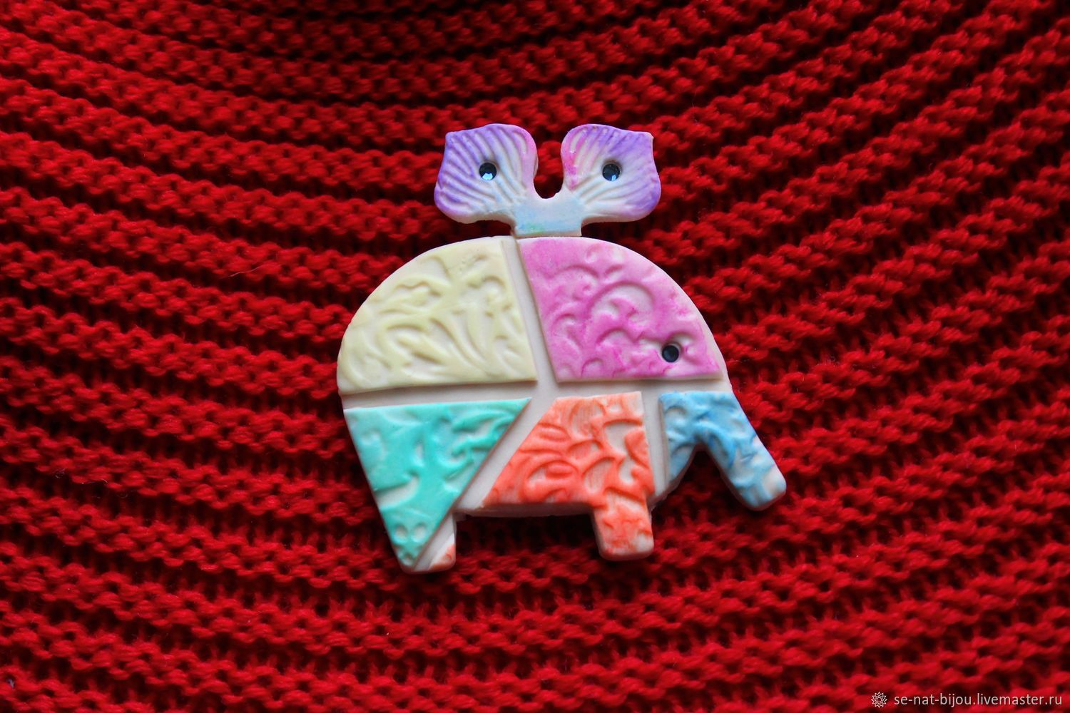 Elephant Pin Brooch in color, Brooches, St. Petersburg,  Фото №1
