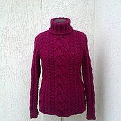 Одежда ручной работы. Ярмарка Мастеров - ручная работа свитер вязаный ручная работа из  итальянской пряжи с альпакой. Handmade.
