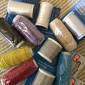 Нитки ручной работы. Ярмарка Мастеров - ручная работа Нитки специализированные для шитья. Handmade.
