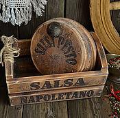 """Для дома и интерьера ручной работы. Ярмарка Мастеров - ручная работа """"Неаполитанский соус"""" Короб с разделочными досками. Handmade."""