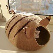 Домик для питомца ручной работы. Ярмарка Мастеров - ручная работа Домик для кошки. Handmade.