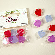 Материалы для творчества handmade. Livemaster - original item Acrylic beads-pendants in the shape of a heart.. Handmade.