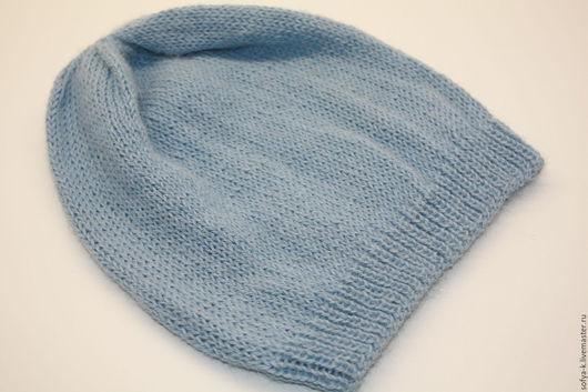 """Шапки ручной работы. Ярмарка Мастеров - ручная работа. Купить Шапка """"Голубая"""". Handmade. Голубой, шапка из альпаки, шапка весенняя"""