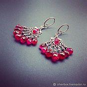 Украшения handmade. Livemaster - original item Earrings Chandler Red Spinel Handmade Author`s work. Handmade.