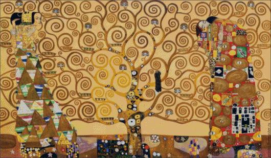 """Вышивка ручной работы. Ярмарка Мастеров - ручная работа. Купить Схема для вышивания крестиком """"Климт - Древо жизни"""". Handmade. Комбинированный"""