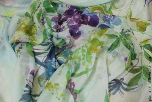 Шитье ручной работы. Ярмарка Мастеров - ручная работа. Купить Ткань натуральный Шелк 100% (Италия). Handmade. Мятный