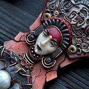 """Колье ручной работы. Ярмарка Мастеров - ручная работа Колье """" Ish Tab"""" скульптурная миниатюра. Handmade."""
