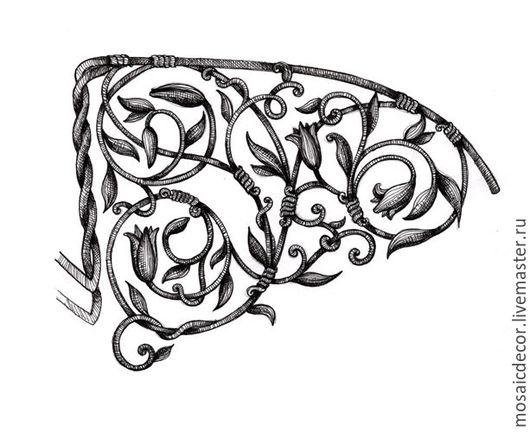 Дизайн интерьеров ручной работы. Ярмарка Мастеров - ручная работа. Купить Эскизы для ковки, графика. Handmade. Чёрно-белый, скетч