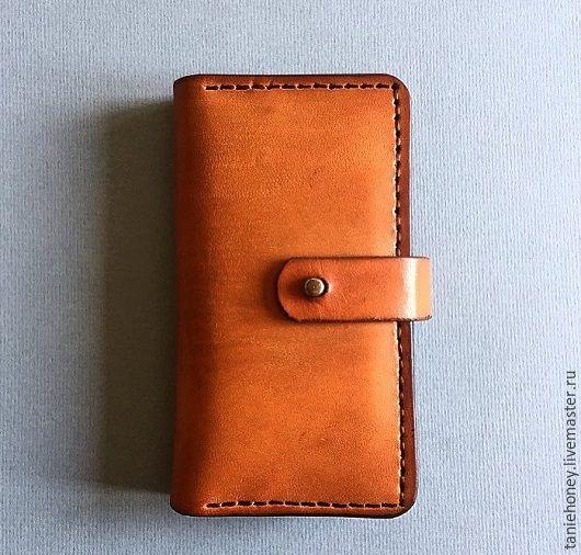Для телефонов ручной работы. Ярмарка Мастеров - ручная работа. Купить Чехол  книжка для IPhone 6 и 6s. Handmade. Оранжевый
