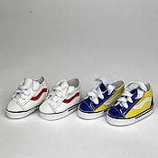 Материалы для творчества handmade. Livemaster - original item Accessories for dolls and toys: Sneakers for dolls 5,5 cm. Handmade.