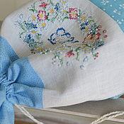 Bags handmade. Livemaster - original item Bag linen handmade cross stitch. Handmade.