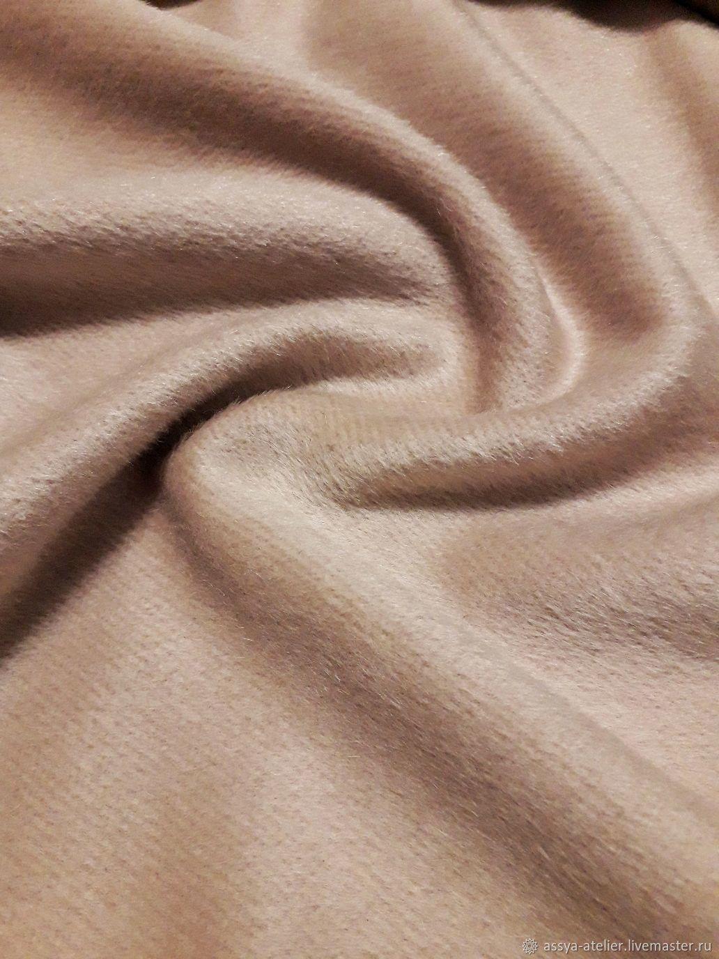 Ткань пальтовая, шерсть с кашемиром, кэмел, 2,4 м, Италия, Ткани, Королев,  Фото №1