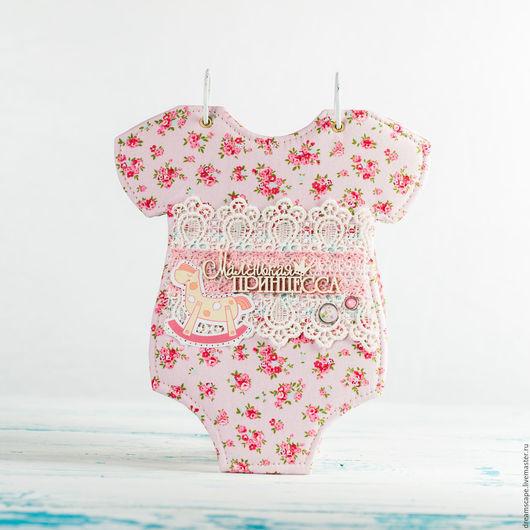 """Фотоальбомы ручной работы. Ярмарка Мастеров - ручная работа. Купить Фотоальбом-бодик """"Маленькая принцесса 2"""". Handmade. Бледно-розовый"""