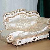 Doll furniture handmade. Livemaster - original item Baroque sofa for dolls up to 60cm tall. Handmade.