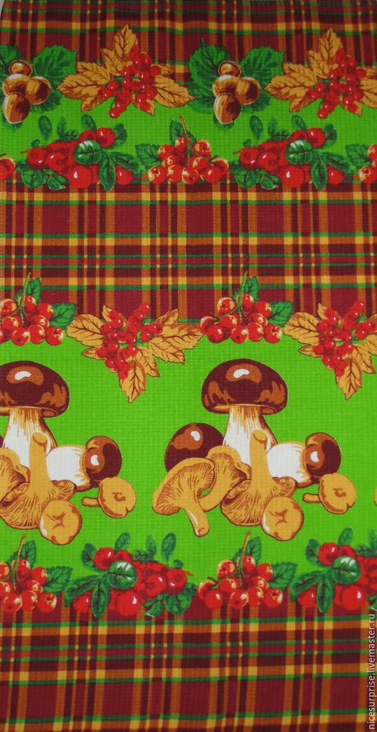 """Кухня ручной работы. Ярмарка Мастеров - ручная работа. Купить Полотенце для кухни """" Грибочки"""". Handmade. Коричневый, рисунок, кухня"""