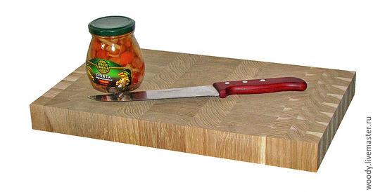 Кухня ручной работы. Ярмарка Мастеров - ручная работа. Купить Торцевая  разделочная доска  400х250х40мм - дуб. Handmade. Купить