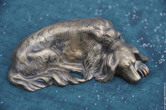 """Статуэтки ручной работы. Ярмарка Мастеров - ручная работа. Купить статуэтка собачки бронзовой """"Сеттер"""". Handmade. Бронза, статуэтки, интерьер"""