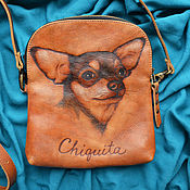 "Сумки и аксессуары handmade. Livemaster - original item Leather bag ""CHIQUITA"". Handmade."