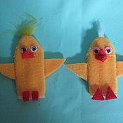 Куклы и игрушки ручной работы. Ярмарка Мастеров - ручная работа Цыплята. Пальчиковая кукла.. Handmade.