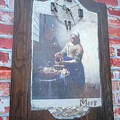 """Для дома и интерьера ручной работы. Ярмарка Мастеров - ручная работа Часы настенные """"Старые часы Вермеера"""". Handmade."""