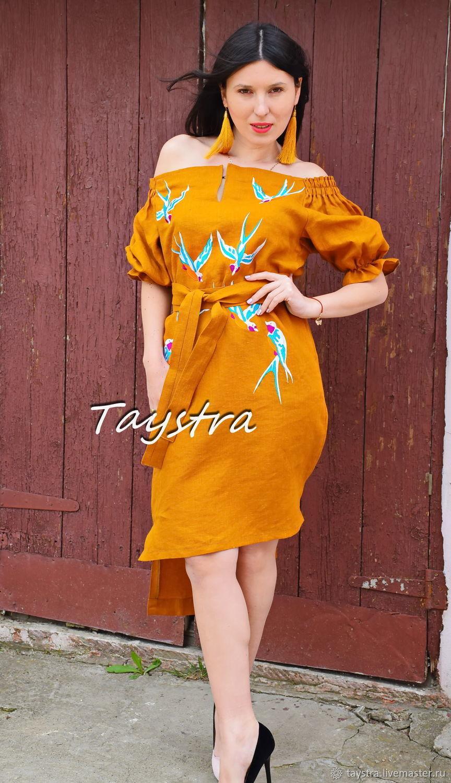 Midi Dress Embroidered ethno style boho chic, Bohemian, Dresses, Chernovtsy, Фото №1