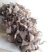 Украшения handmade. Livemaster - original item Vintage bouquet. Large brooch with the colors of the fabrics.. Handmade.