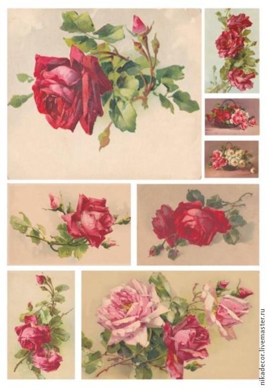 DGR 152, чайные розы алые Плотность 40 г/м2