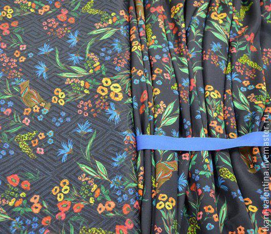 Шитье ручной работы. Ярмарка Мастеров - ручная работа. Купить Ткань плательно-костюмная. Handmade. Ткань, платье, ткань, хлопок