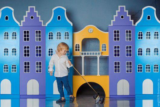 """Детская ручной работы. Ярмарка Мастеров - ручная работа. Купить Проект """"Голландские домики №2"""". Handmade. Разноцветный, домики, краска"""