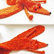 Аксессуары ручной работы. Ярмарка Мастеров - ручная работа Вязаный шарф-лисичка. Handmade.