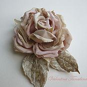 """Украшения ручной работы. Ярмарка Мастеров - ручная работа цветок из натурального шелка """"моя любимая роза"""". Handmade."""