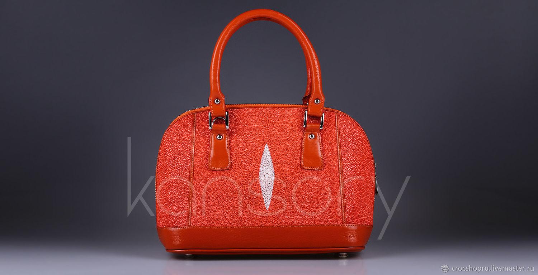 Handbags handmade. Livemaster - handmade. Buy Bag leather Stingray IMC0548O.Bag, bag of genuine leather, summer handbag