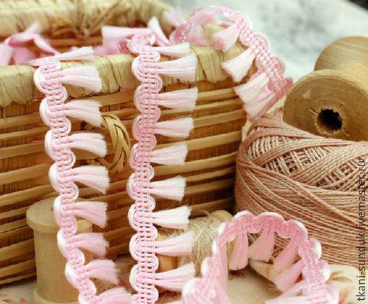 """Шитье ручной работы. Ярмарка Мастеров - ручная работа. Купить Тесьма """"Хвостики"""" (розовый). Handmade. Розовый, сундук, шоп сундук"""