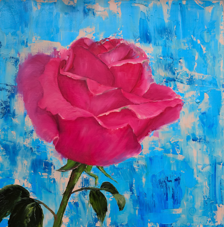 Картина маслом Роза, Картины, Челябинск,  Фото №1
