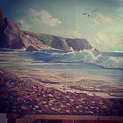 Картины и панно ручной работы. Ярмарка Мастеров - ручная работа Морской пейзаж с чайкой. Handmade.
