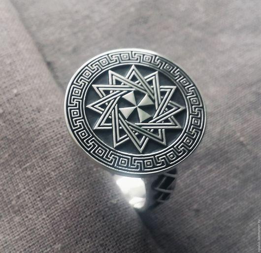 """Кольца ручной работы. Ярмарка Мастеров - ручная работа. Купить Кольцо """"Звезда Эрцгаммы"""". Handmade. Серебро, кольцо из серебра, оберег"""
