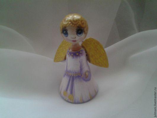 """Колокольчики ручной работы. Ярмарка Мастеров - ручная работа. Купить Коллекционный колокольчик """"Сиреневый ангел"""", авторская работа. Handmade. ангелок"""