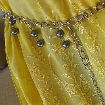 Accessories handmade. Livemaster - original item Belt: Decorative belt with natural Hematite balls 12 mm. Handmade.