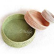 Для дома и интерьера handmade. Livemaster - original item Knitted, woven baskets (set). Handmade.