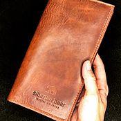 Кошельки ручной работы. Ярмарка Мастеров - ручная работа Traveller кожаный мужской кошелёк. Handmade.