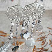 Украшения handmade. Livemaster - original item Earrings in BOHO style with pearls and hearts