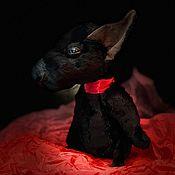 Тедди Зверята ручной работы. Ярмарка Мастеров - ручная работа Черный щенок тедди Бультерьер - Блекджек. Handmade.