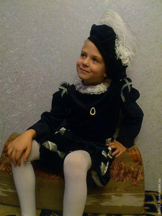Детские карнавальные костюмы ручной работы. Ярмарка Мастеров - ручная работа. Купить Королевский паж. Handmade. Тёмно-синий