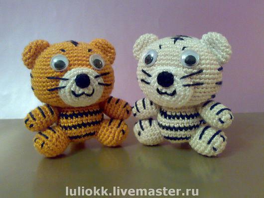 Миниатюра ручной работы. Ярмарка Мастеров - ручная работа. Купить Тигрята амигуруми. Handmade. Амигуруми, тигр, подарок, тигренок