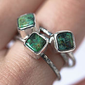 Украшения handmade. Livemaster - original item Silver ring with green turquoise select size. Handmade.