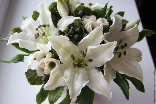 Свадебные цветы ручной работы. Ярмарка Мастеров - ручная работа. Купить Белых лилий аромат. Handmade. Белый, цветы