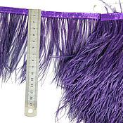 handmade. Livemaster - original item Trim of ostrich feathers 10-15 cm dark-purple. Handmade.