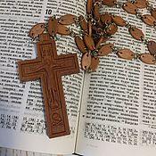 Иконы ручной работы. Ярмарка Мастеров - ручная работа Крест наперсный, с цепочкой. Годеново.. Handmade.