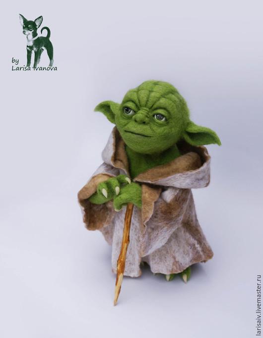 Портретные куклы ручной работы. Ярмарка Мастеров - ручная работа. Купить Мастер Йода, Звездные войны. Handmade. Зеленый